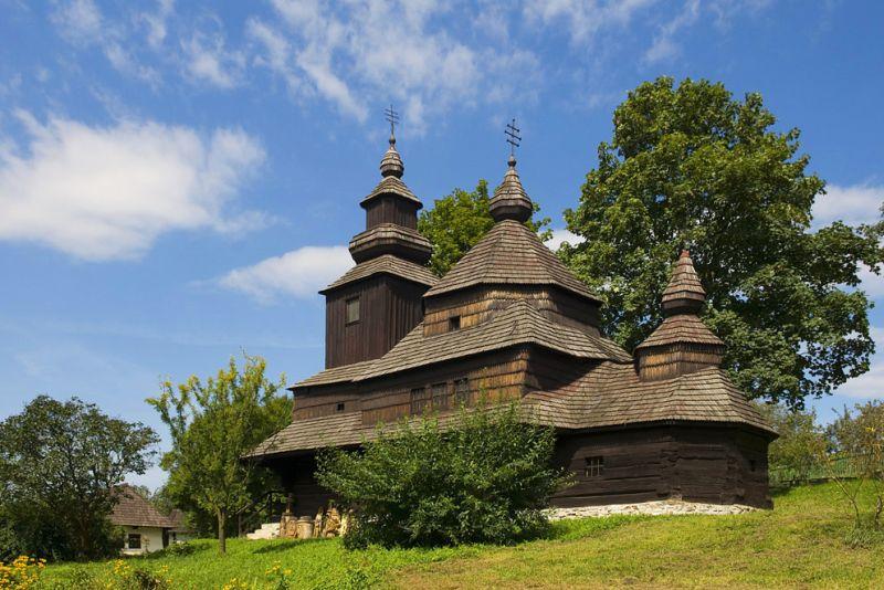 Humenné skanzen - cerkev Sv. Michala Archaniela z Novej Sedlice