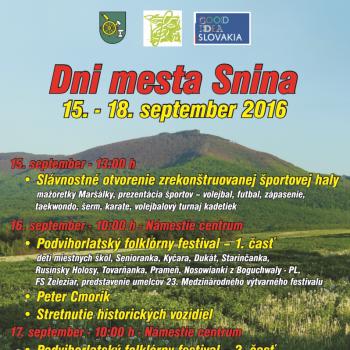 Dni mesta Snina 2016